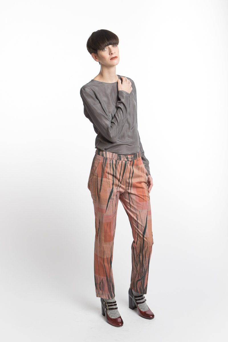 Pants Feather Print