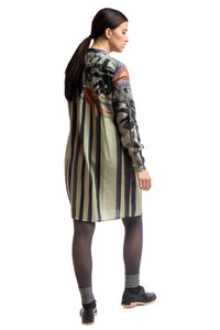 Shirt Dress Print-Beige