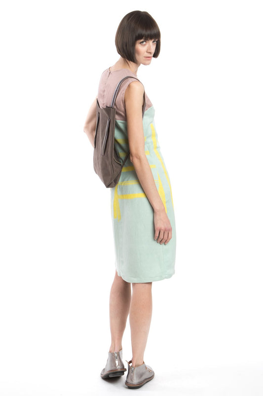 Shift Dress Yellow-Print