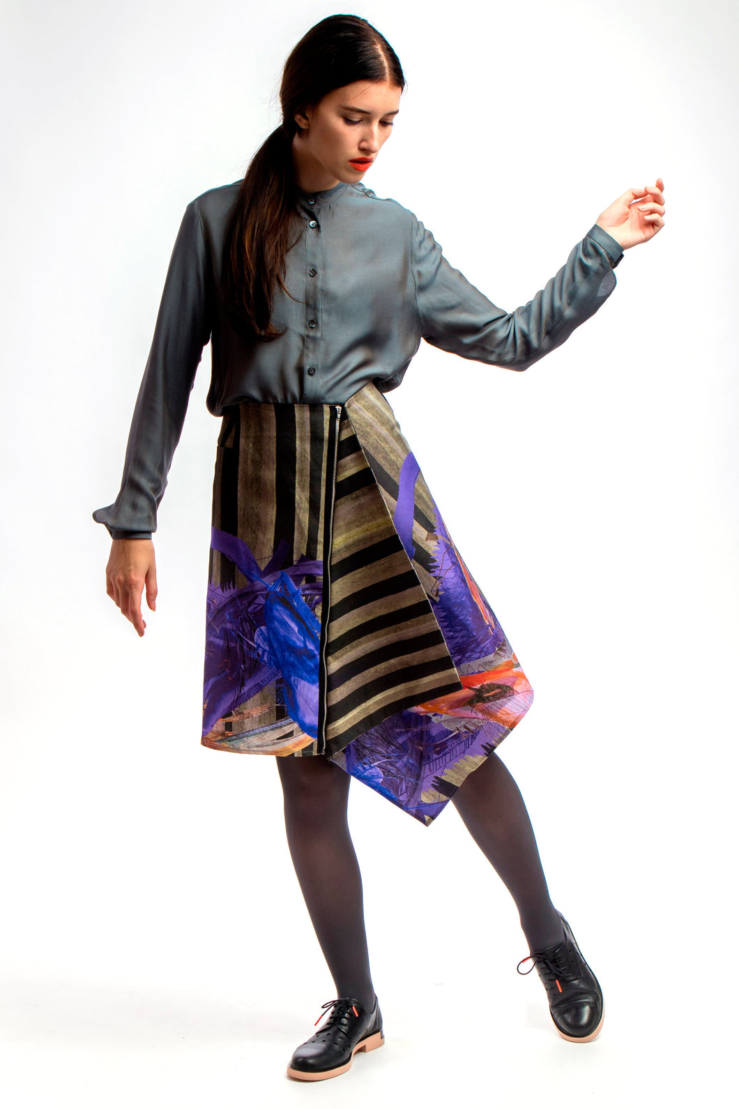 Asymmetric Skirt Dark