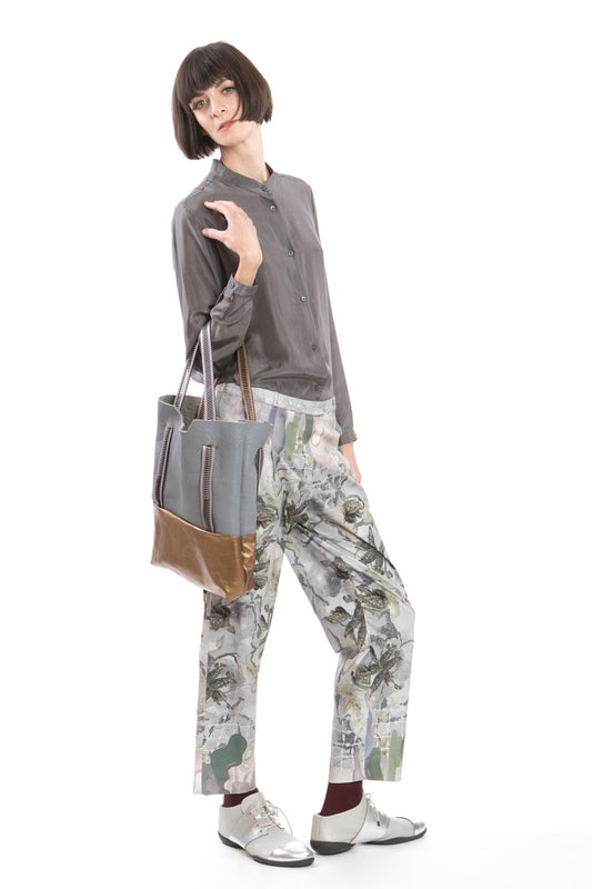 Trousers Flower Grey