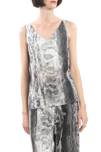 V-neck Ice-Crystal Print