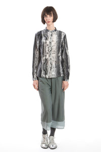 Blouse Ice-Crystal Print