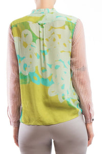 Blouse Yellow Pink
