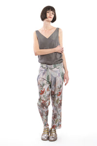 Trousers Flower Red