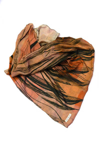 Silk Scarf Feather