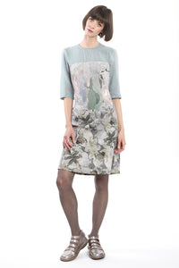 Slim Dress Grey-Blue