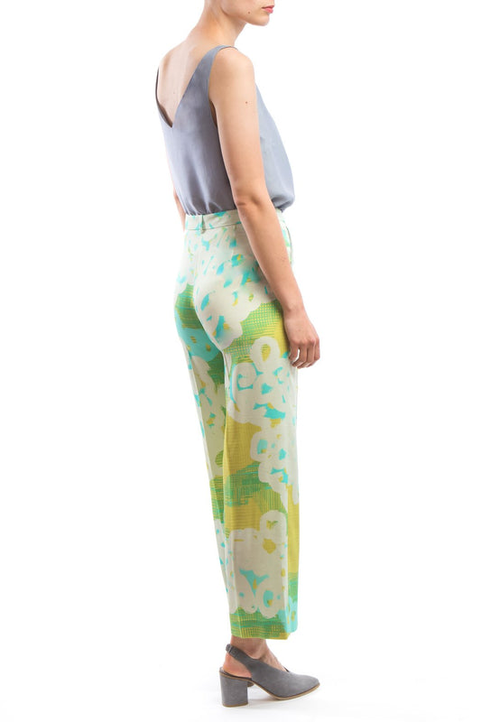 Wide Pants Yellow Print