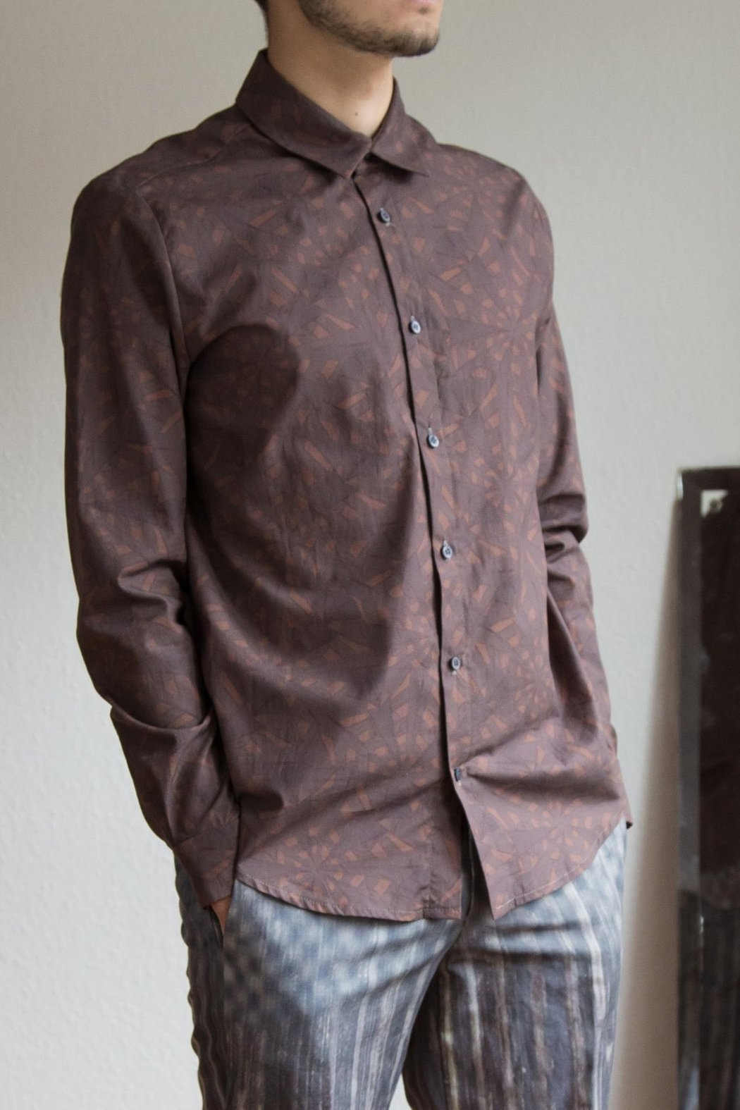 Shirt in brown pattern