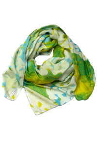 Scarf Yellow Turquoise