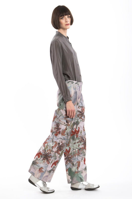Marlene Pants Flower-Red