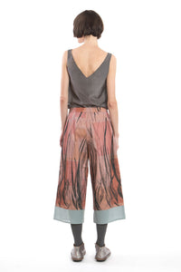 Culotte Feather Print