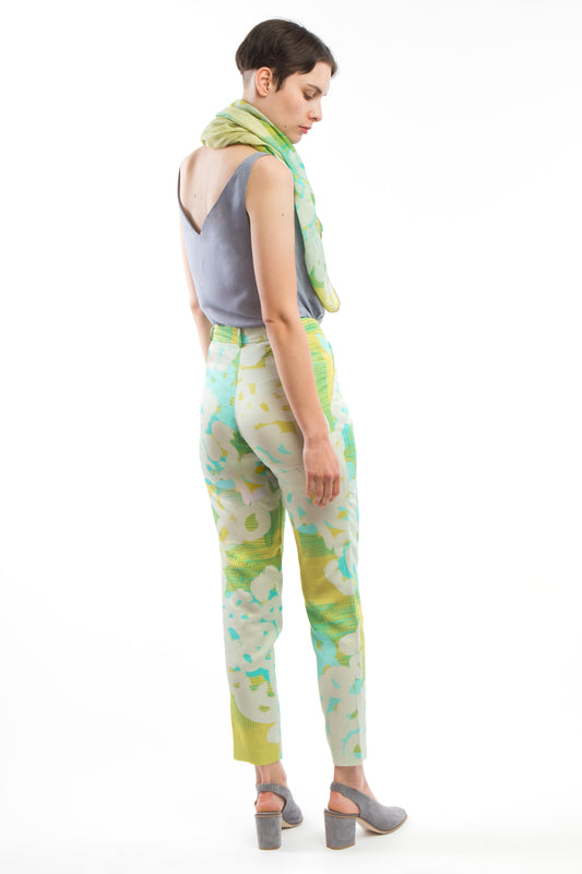 Trousers Yellow Turquoise