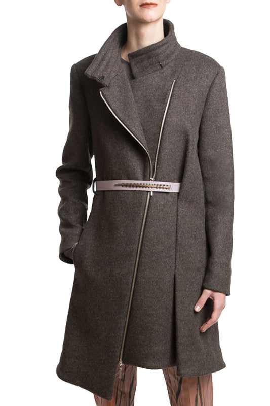 Coat in Grey Melange