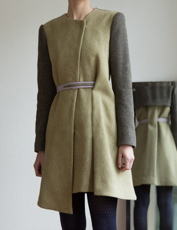 Light green wool coat