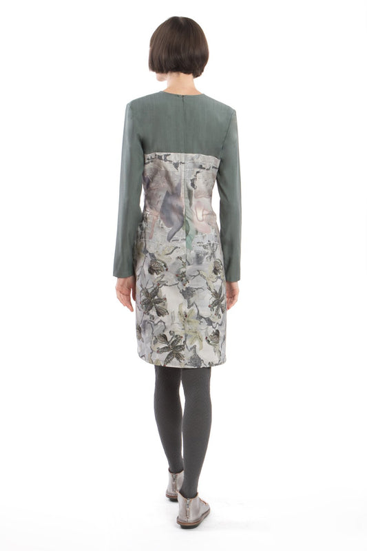 Dress Slim Flower-Green