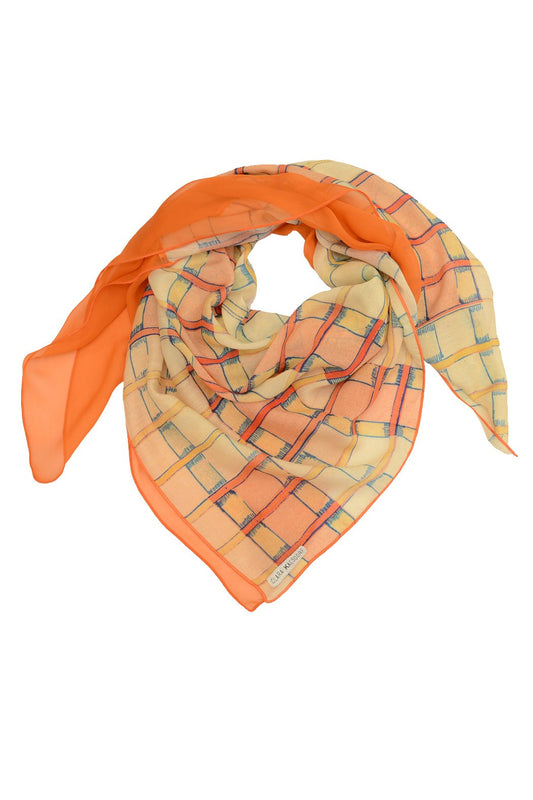 Silk Scarf Check