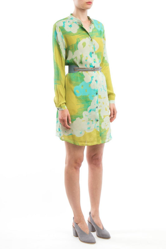 Shirtdress Yellow Turquoise