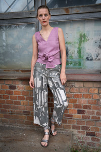 Linen Culottes Grey Painting