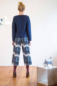 Printed Culottes in Petrol Organic Cotton made in Berlin
