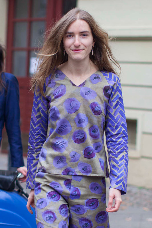 Purple Printed Blouse