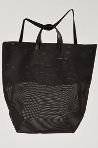 Black Moire Backpack Shopper by Hänska