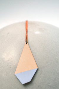 Light Blue Polygon Necklace