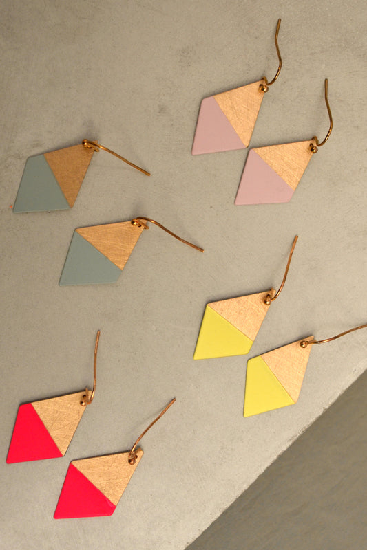 Colorful Trapezoid Earrings