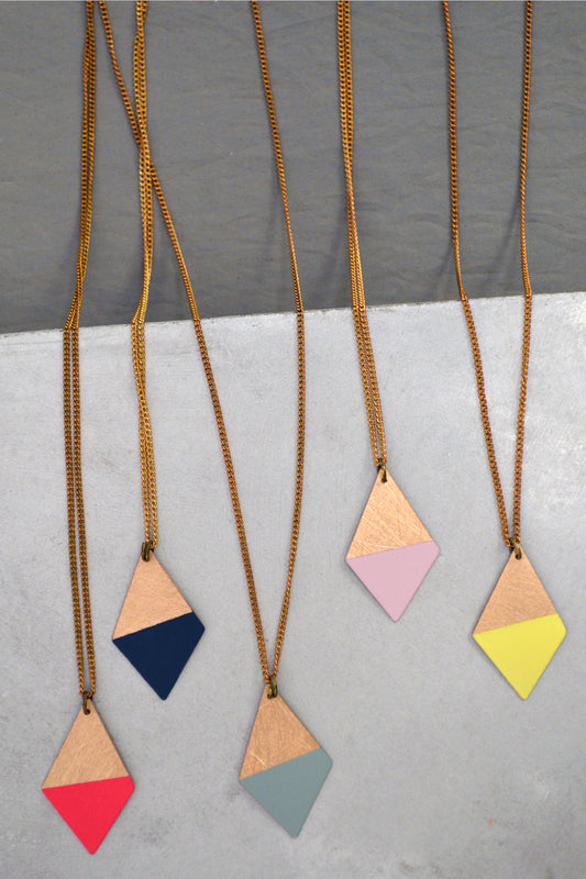 Colorful Trapezoid Necklaces