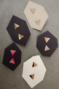Triangle Earrings Studs