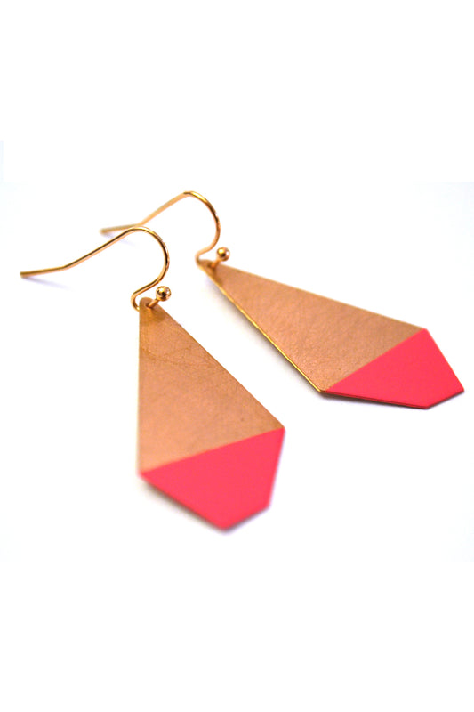 Pink Polygon Earrings