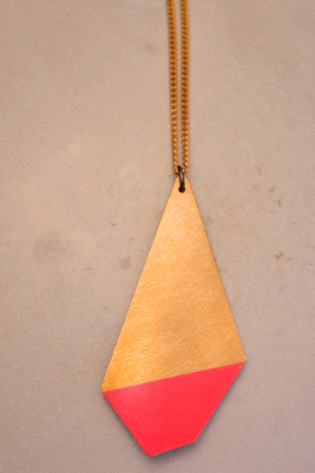 Pink Polygon Necklace