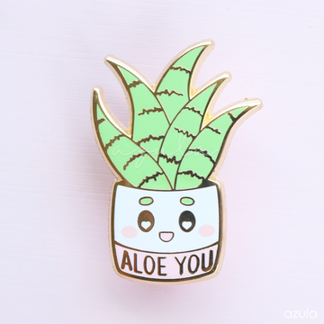 ALOE YOU ✦ ENAMEL PIN