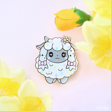 FLORAL SHEEP ✦ ENAMEL PIN