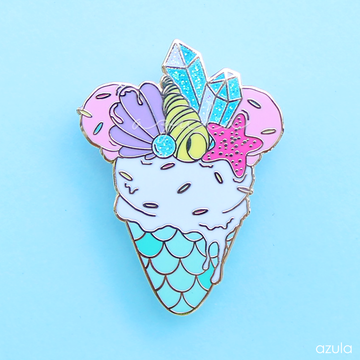 MERMAID ICE CREAM ✦ ENAMEL PIN