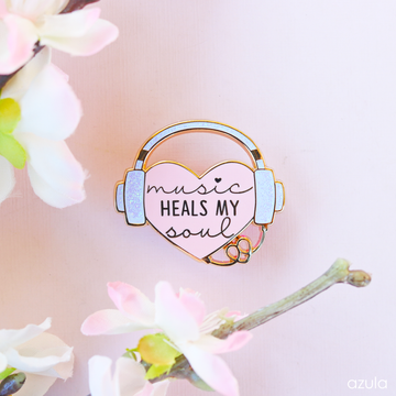 PINK MUSIC THERAPY ✦ ENAMEL PIN