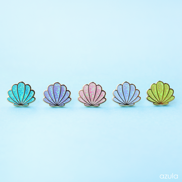 SEASHELL COLLECTION ✦ ENAMEL PIN SET