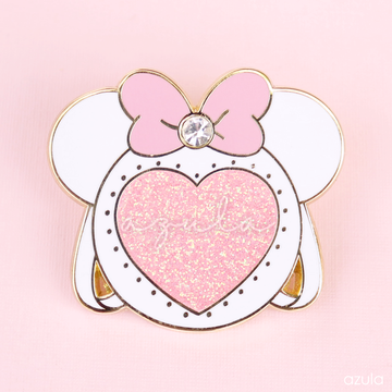 WHITE MINNIE ITA BAG ✦ ENAMEL PIN
