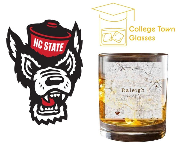 Raleigh College Town Glasses (Set of 2) 1