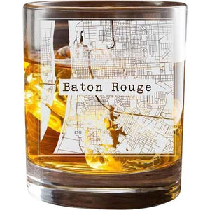 Baton Rouge College Town Glasses (Set of 2)