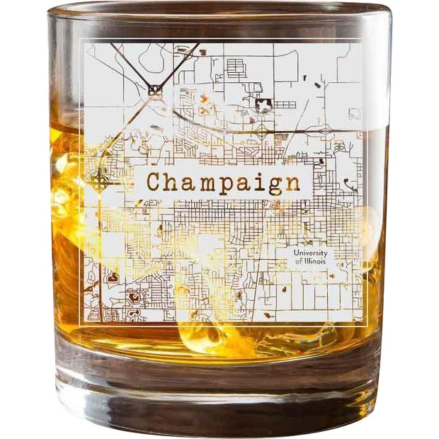 Champaign College Town Glasses (Set of 2) 1