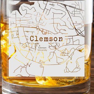 Clemson College Town Glasses (Set of 2)