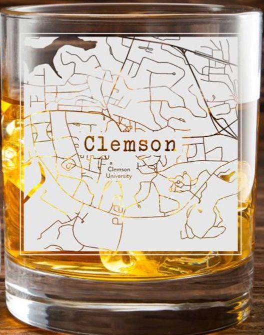Clemson College Town Glasses (Set of 2) 1