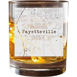 Fayetteville College Town Glasses (Set of 2)