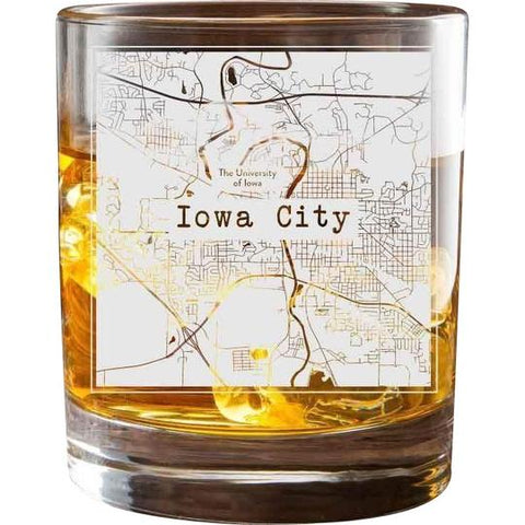 College Town City Map Glasses