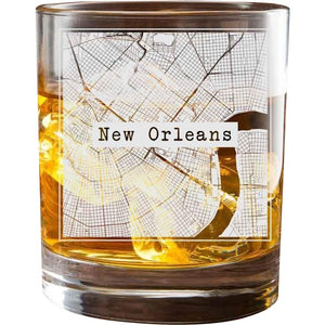 New Orleans College Town Glasses (Set of 2)