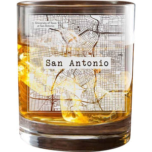San Antonio College Town Glasses (Set of 2)