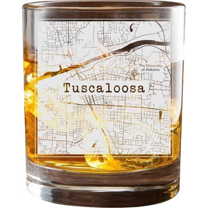 Tuscaloosa College Town Glasses (Set of 2)