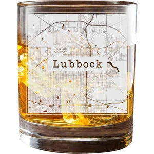 Lubbock College Town Glasses (Set of 2)
