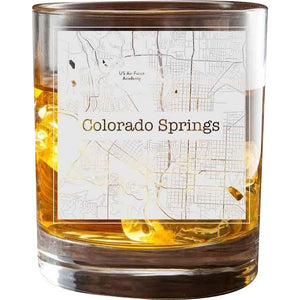 Colorado Springs College Town Glasses (Set of 2)